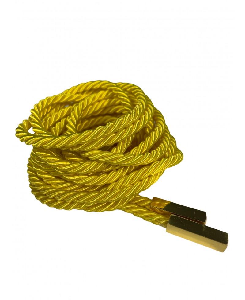 Cordes lurex jaune citron